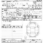 2013 Mitsubishi Mirage G auction sheet