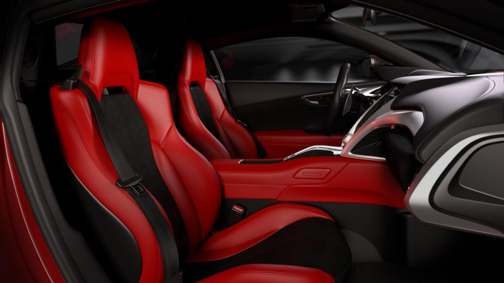 2016 Acura NSX human centered interior