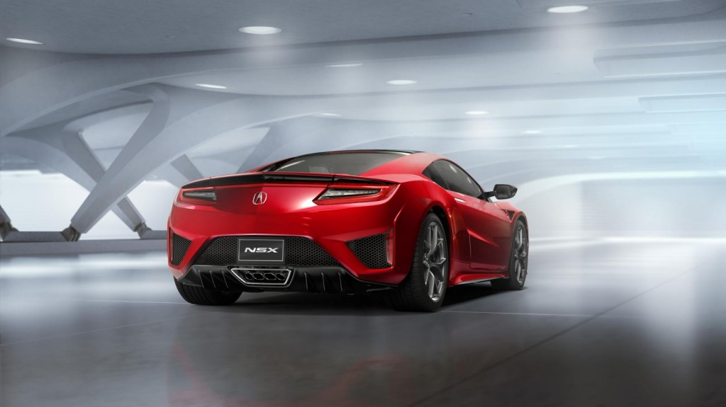2016 Acura NSX rear view