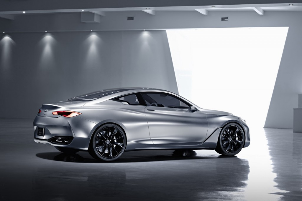 Infiniti Q60 Concept Side-Rear view