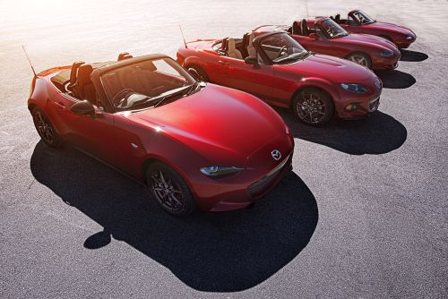 four generations of Miata