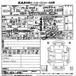 2007 Alfa Romeo Brera auction sheet