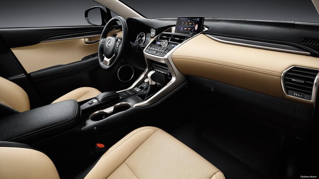 2014 Lexus NX interior creme leather