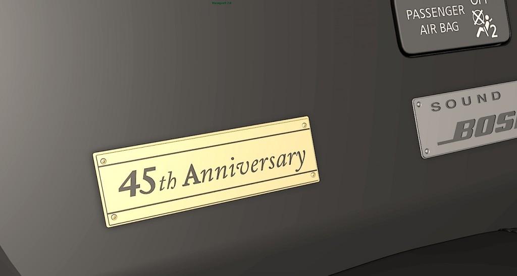 2016 Nissan GT-R Gold Edition plaque