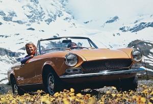 Old Fiat 124 Spider