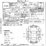 2003 Honda MDX auction sheet