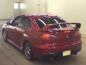 2010 Mitsubishi Lancer Evo GSR rear