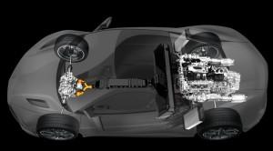 2016 Acura NSX hybrid layout