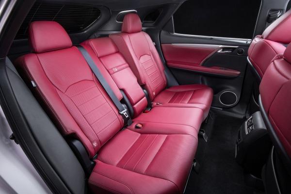 2016 Lexus RX interior rear seats