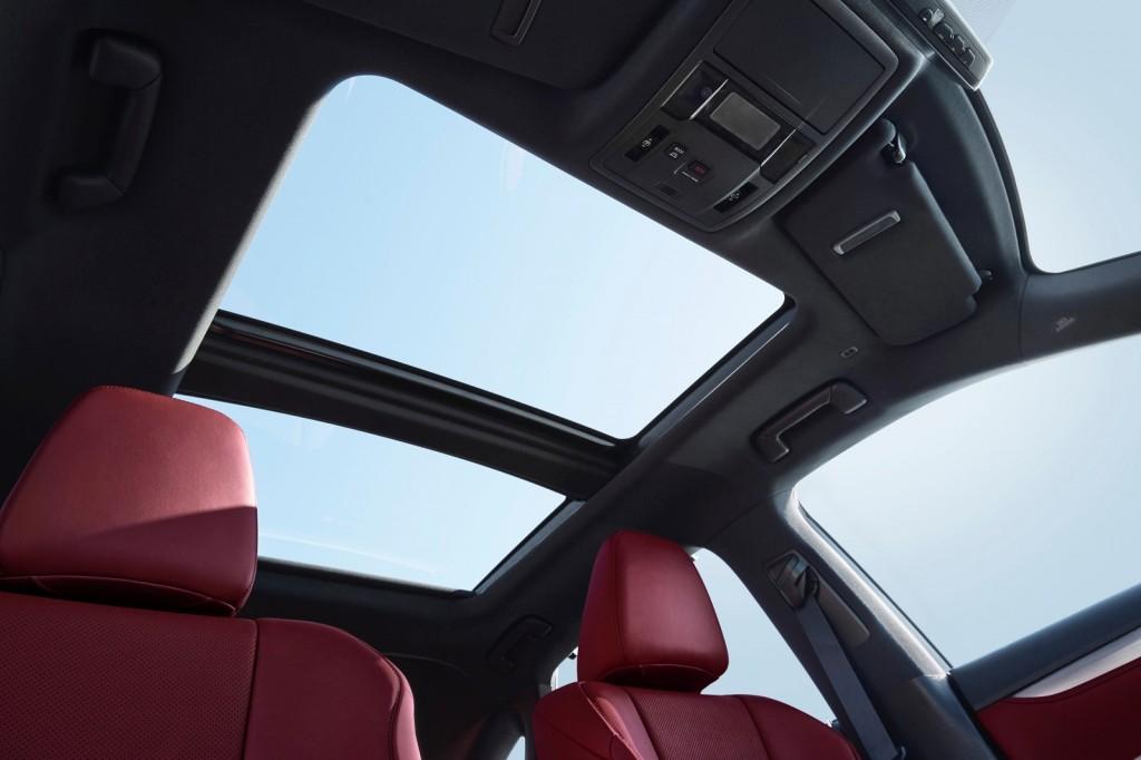 2016 Lexus RX interior sunroof