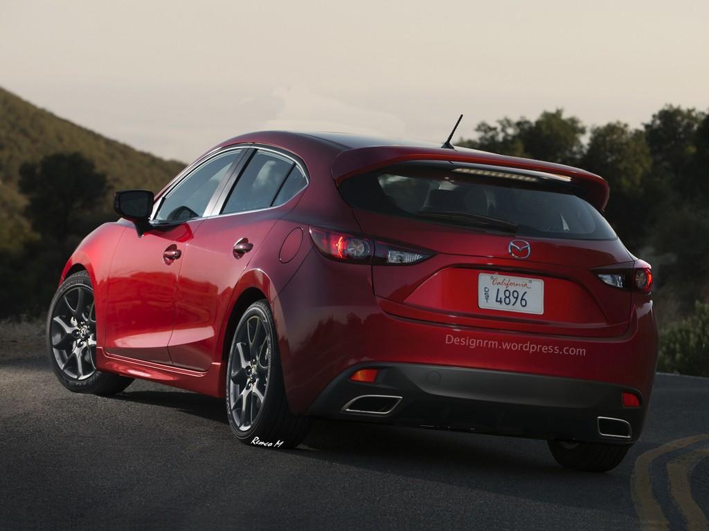 Mazda 3 MPS Rendering back