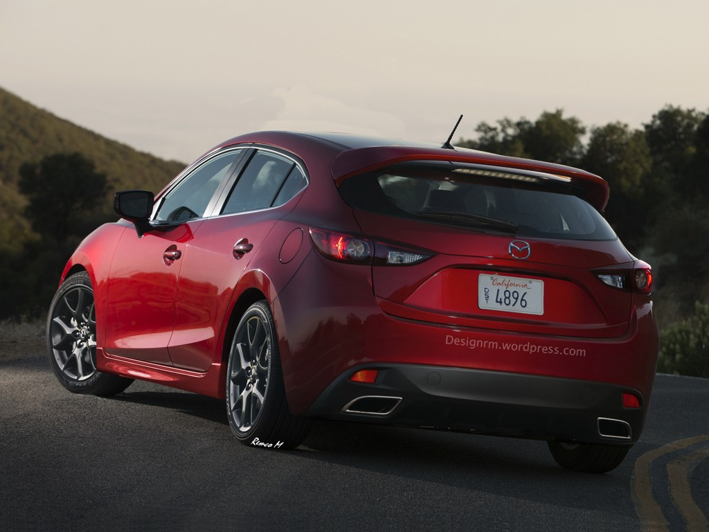 Mazda 3 MPS Rendering back