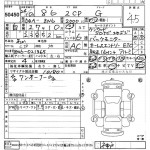 2012 Toyota 86 auction sheet