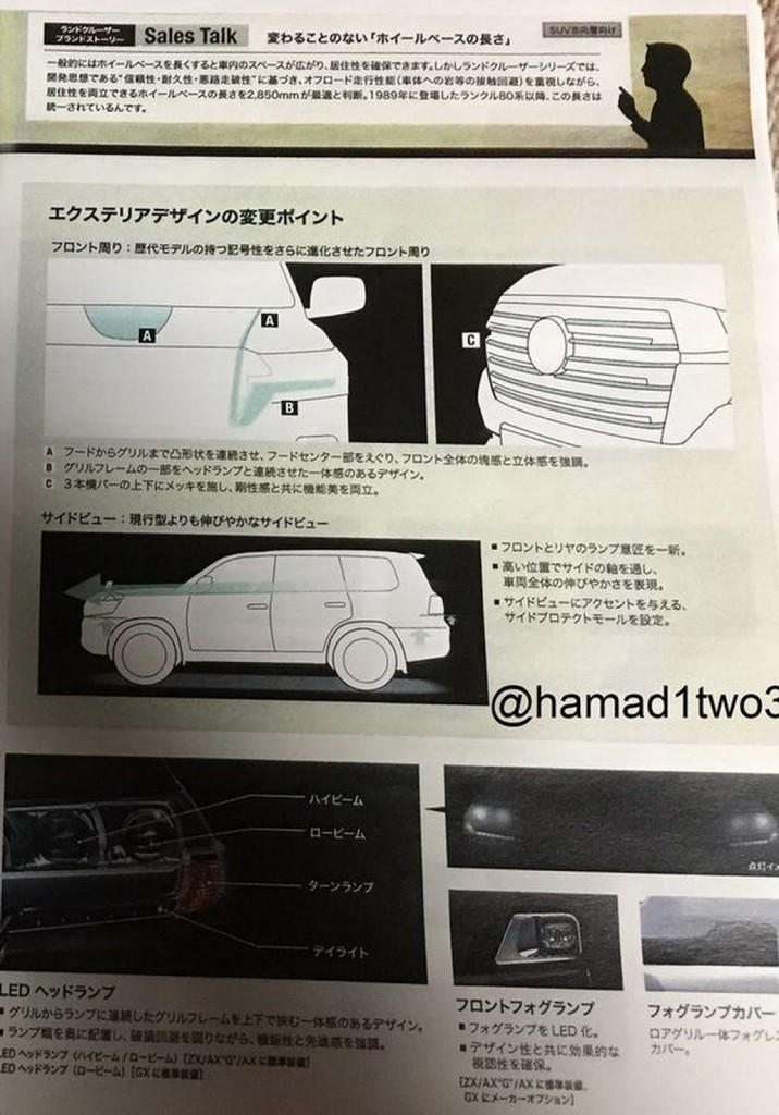 2016 Toyota Land Cruiser Spy Shot 4