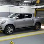 Toyota Hilux spy shot profile