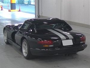 1996 Dodge Viper at auction in Japan - rear