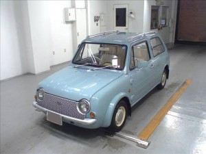 Nissan Pao at Japanese car auction - front 2