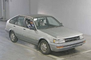 1985 Toyota Corolla at auction in Japan -- front