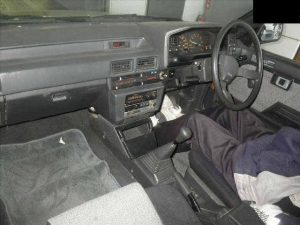 1985 Toyota Corolla at auction in Japan -- interior