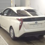 2016 Toyota Prius at Japanese car auction -- rear
